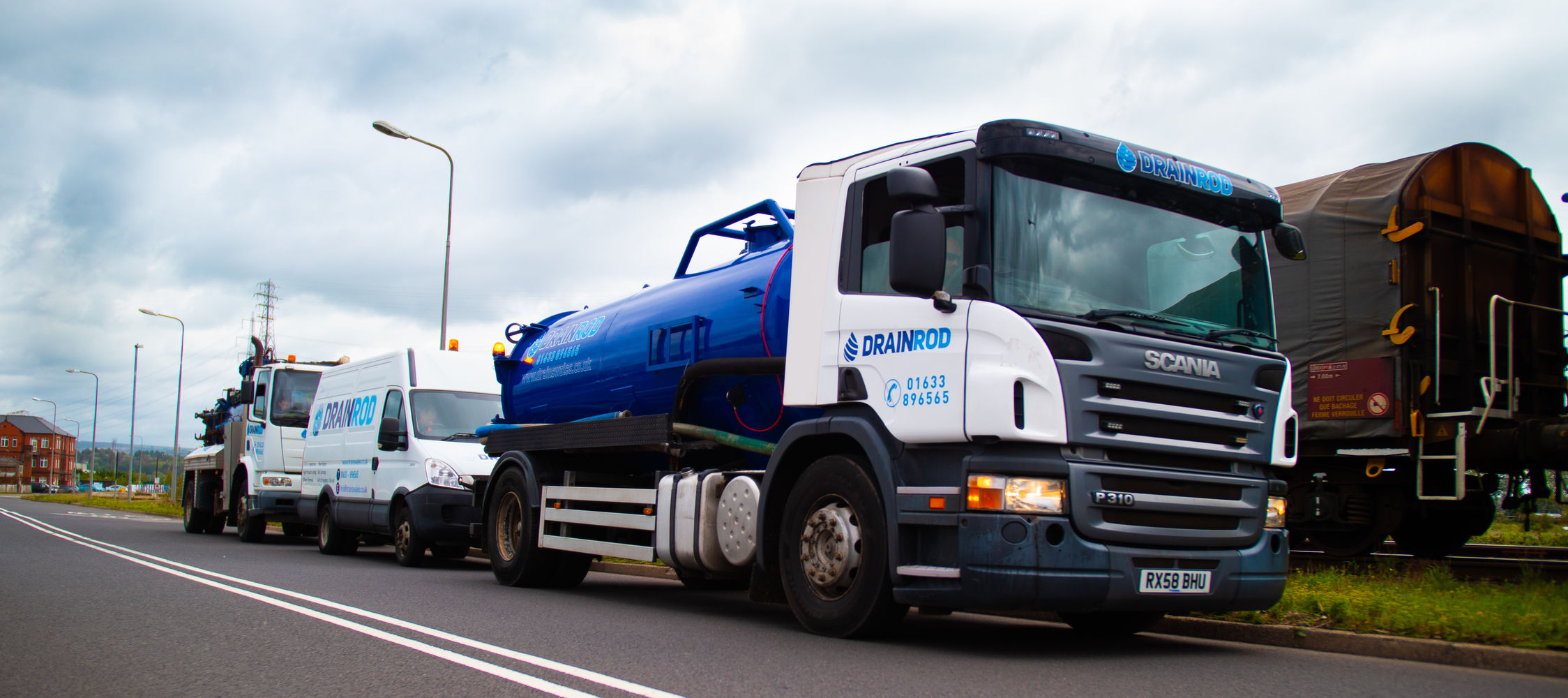 Drainrod septic tank truck
